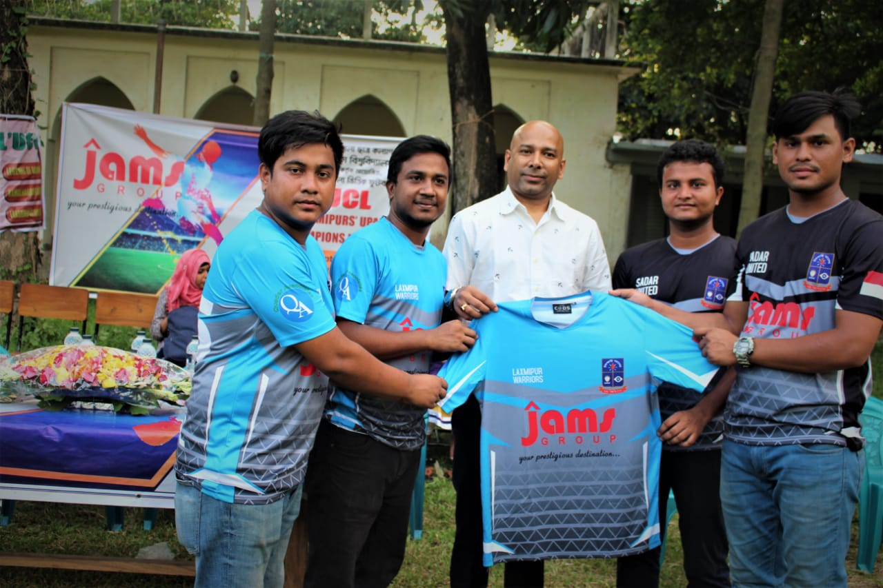 Md Shahadat Hossain the Chairman of Jams Construction of Jams Group was sponsoring cricket match between Dhaka university student from lakhsmipur. Md Shahadat Hossain was the chief guest of this match