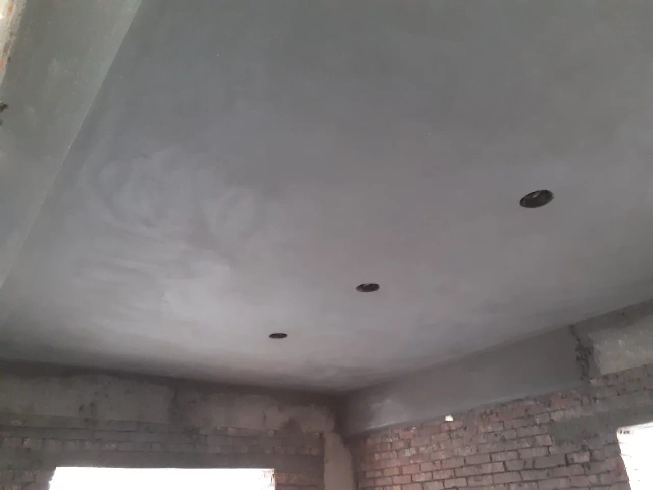 Jams Rafan Garden,,,, 1st floor  ceiling plaster and drop wall work running...