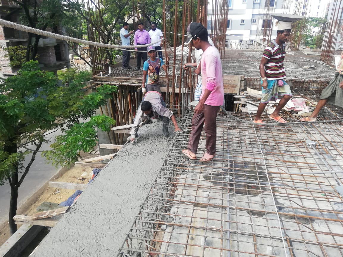 jams Ashapurna 2nd floor slab casting running